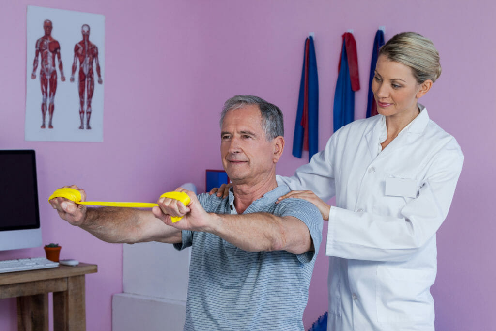 physical assessment from a physical therapist