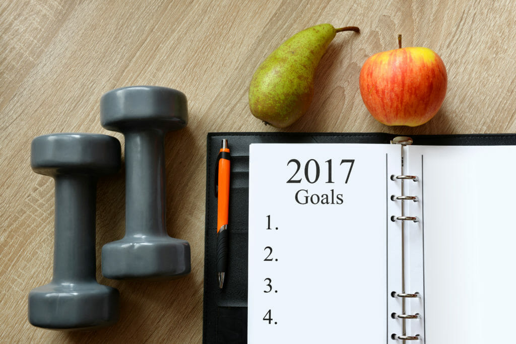 Healthy resolutions for the New Year 2017.