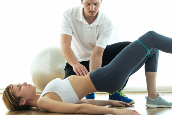 woman receiving pelvic floor physical therapy from Utah women's health PT
