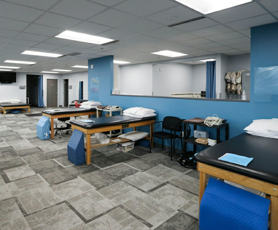 Sandy physical therapy exam room