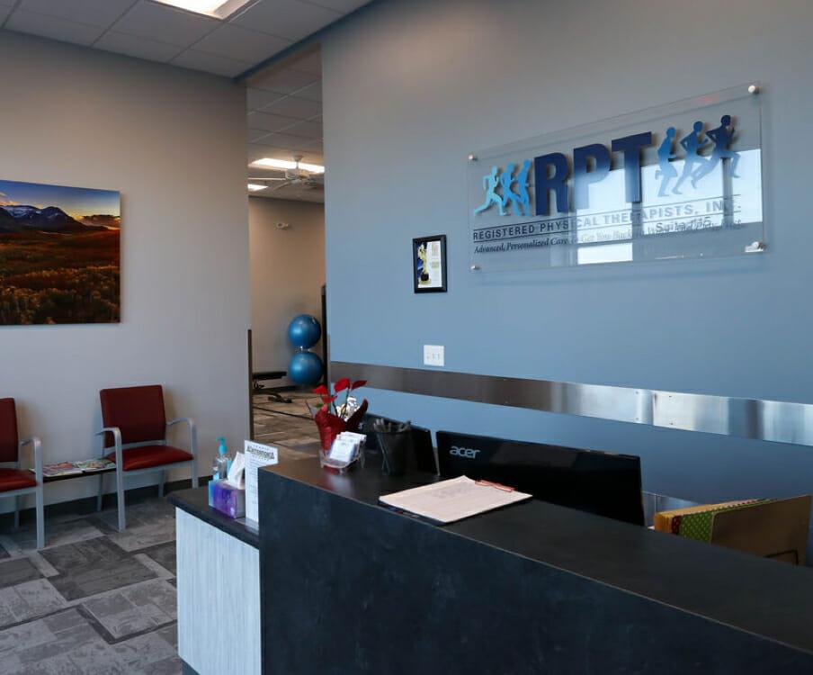 Saratoga Springs reception area in RPT office