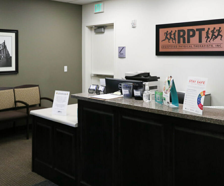 reception area in South Bangerter RPT office