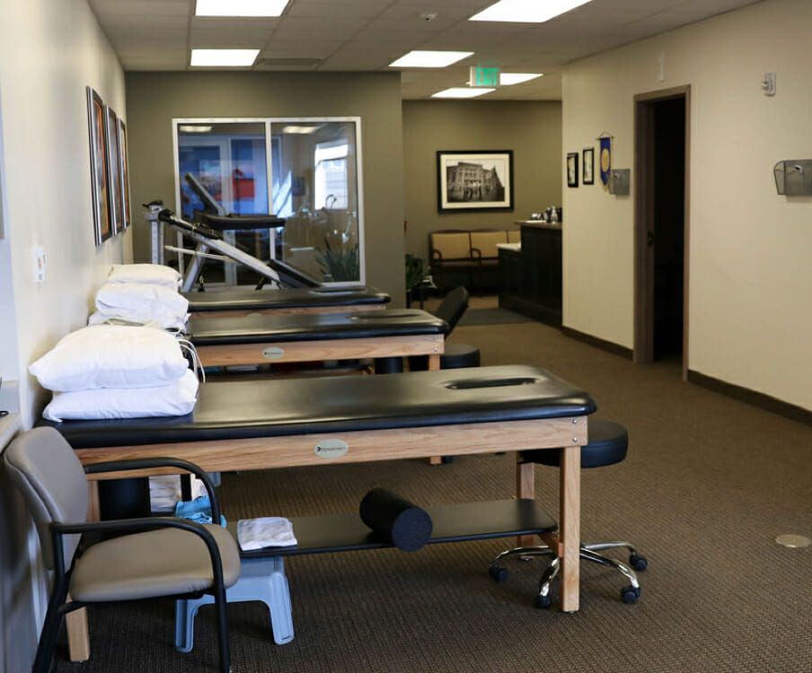 South Bangerter physical therapy exam area