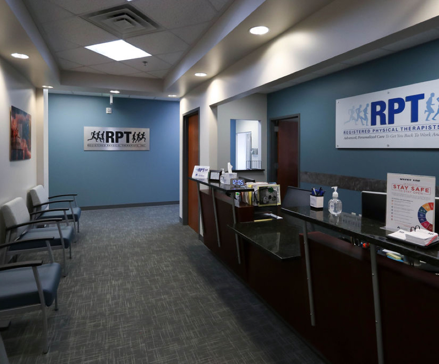 Entrance and waiting area in South Jordan RPT office