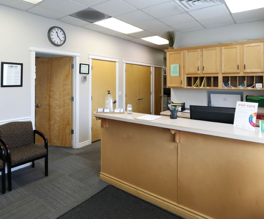 reception area in West Jordan RPT office